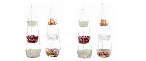 Fox Run 3 Tier Hanging Fruit Vegetable Kitchen Storage Basket
