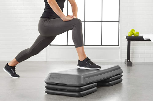 Aerobic Exercise Step Platform with Adjustable Risers