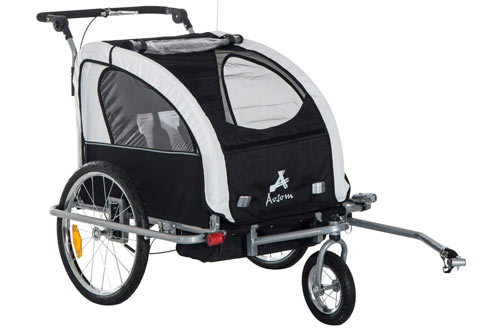 Aosom Elite II 3in1 Double Child Bike Trailer, Stroller & Jogger