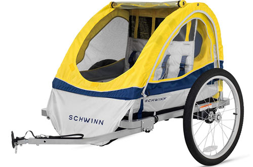 Schwinn Echo Kids/Child Double Tow Behind Bicycle Trailer