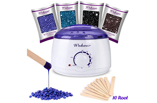 Wokaar Wax Warmer Hair Removal Waxing Kit