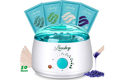 Lansley Wax Warmer Hair Removal Home Waxing Kit