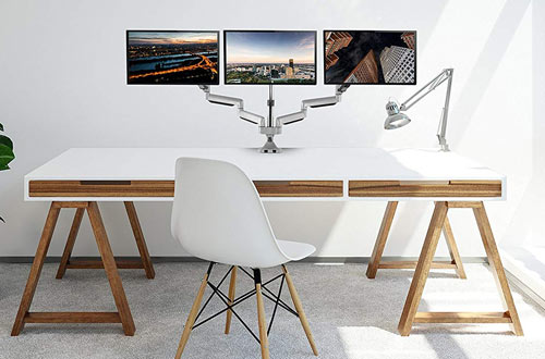 Triple Computer Screen Desk Mount Arms