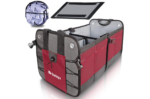 Car Trunk Organizer Durable Collapsible Adjustable Compartments