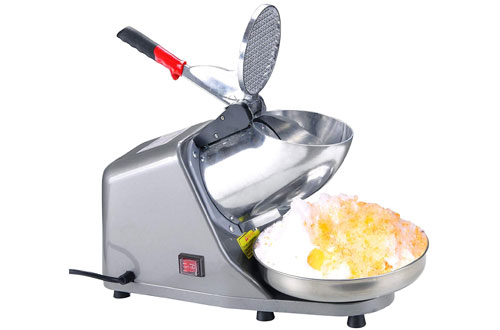 Yescom 300W Electric Ice Shaving Crusher Machine - 1450 r/min 143 lbs/hr