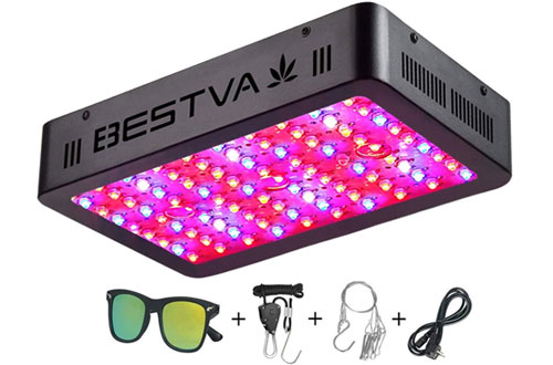 BESTVA 1000W LED Grow Light Dual-Chip Growing Lamp for Hydroponic Plants