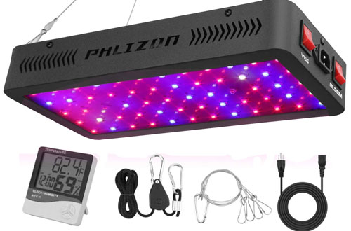 Phlizon 600W Full Spectrum Double Switch LED Plant Light for Indoor Veg and Flower