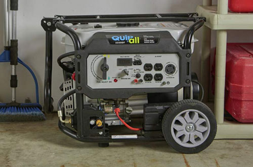 Quipall Dual Fuel Gas Portable Generator with Electric Start - 5250DF