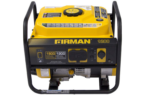 Firman Gas Powered Portable Generator with OHV Engine - P01202 1200-Watt