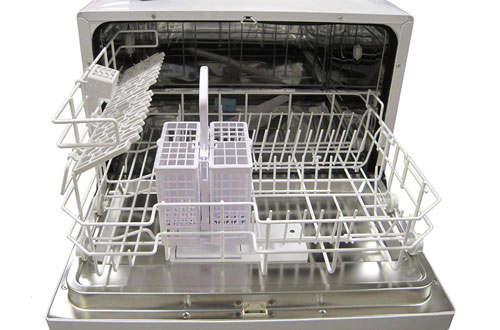SPT Silver Countertop Dishwasher for Small Kitchen