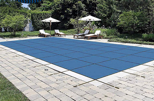 Happybuy 20'x40' Rectangle Inground Pool Cover Blue Mesh Cover