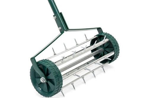 Best Rolling Lawn Aerator for Garden Grass Soil Care with Handle