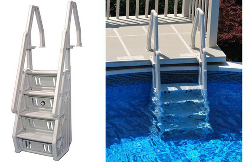 Vinyl Works40-60 Inches Tallin-Step Ladder for Pools