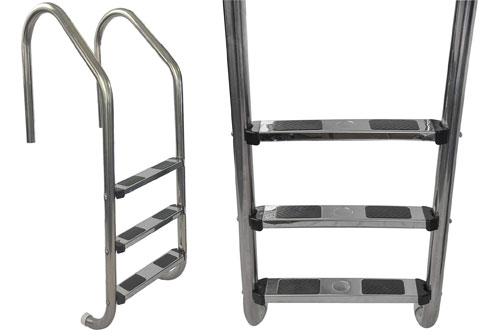 Aqua Stainless Steel 3-Step Ladderfor in-Ground Swimming Pool