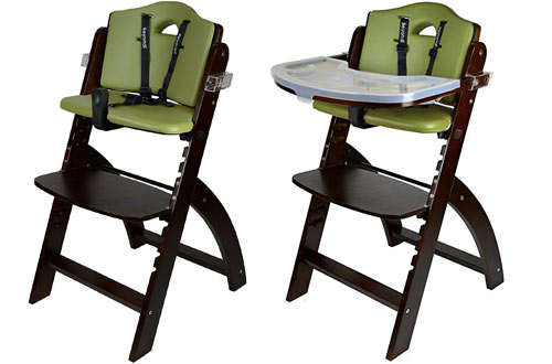 Abiie Beyond Wood High Chair for Babies with Tray