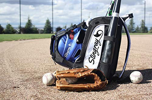 Large Capacity Baseball/Softball Stingray Backpack with Helmet Holder