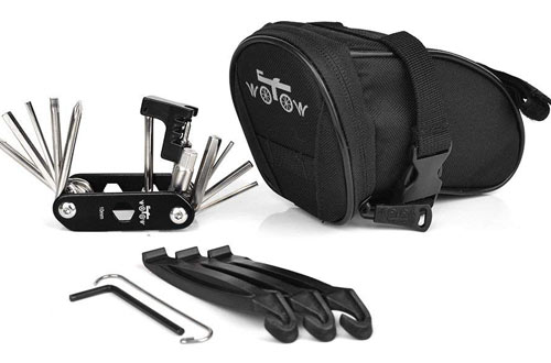 WOTOW Bike Repair Tool Kits Saddle Bag Bicycle Repair Set