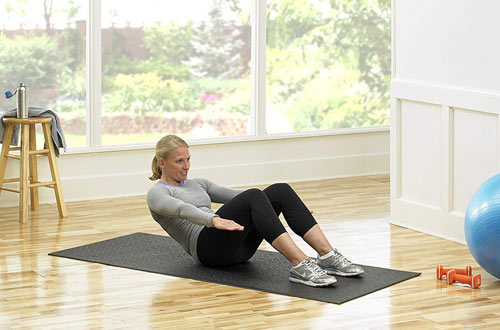 SuperMats Heavy Duty Equipment Mat for Exercise Bikes and Steppers