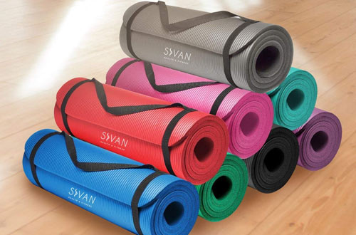 Sivan Health and Fitness Extra-Thick Yoga Mat
