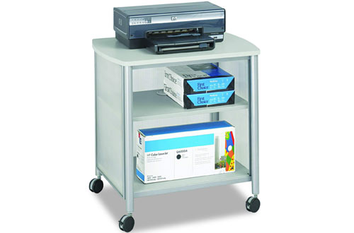 Safco Products Impromptu Mobile Print Stand with Swivel Wheels