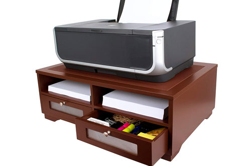 Victor Wood Printer Stand with Drawers