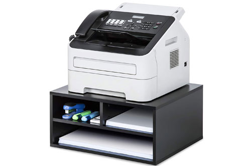 FITUEYES Wood Printer Stand with Storagefor Home & Office