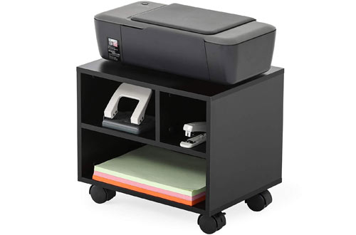 FITUEYES Mobile Under Desk Printer Stand with Wheels