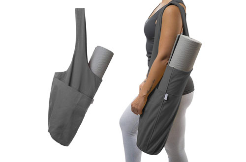 Yoga Mat Tote Sling Carrier with Large Side Pocket