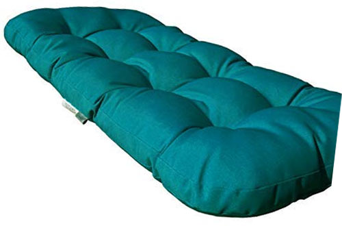 SewKer Indoor/Outdoor Wicker Loveseat Bench Cushion