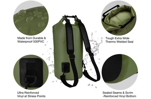 Piscifun Waterproof Dry Bag Backpack Floating Dry Backpack