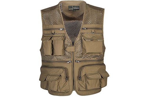 Ziker Mesh Breathable Camouflage Journalist Photographer Fishing Vest