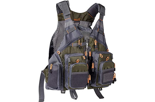 Bassdash Adjustable Strap Fishing Vest for Men & Women
