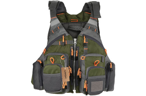 Lixada Fly Fishing Safety Life Vest for Swimming Sailing Boating Kayak Floating