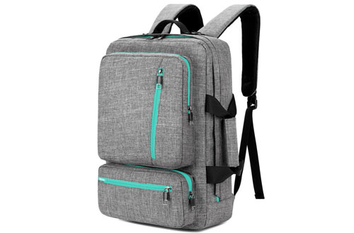SOCKO 17 Inch Laptop Backpack - Convertible Travel Computer Bag