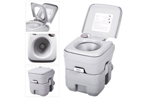 JAXPETY Outdoor Indoor Travel Portable Toilet for Camping