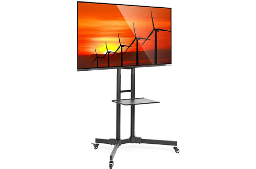 Mount Factory Rolling TV Stand Mobilewith Wheels