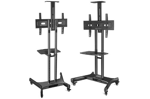 ONKRON Mobile TV Stand with Mount Rolling TV Cart