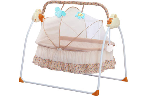 CBBAY Electric Swing Bed Automatic Bassinet Baby Basket
