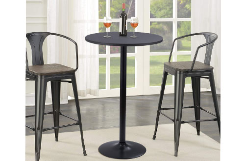 Furmax Bistro Pub Table Round Bar Height Cocktail Table