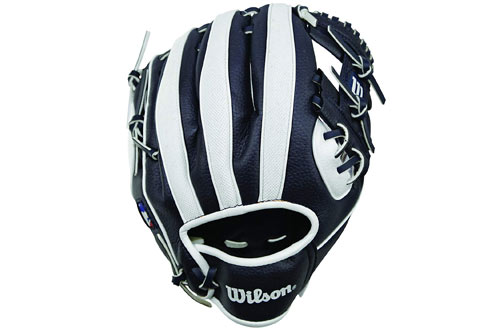 Wilson A200 Youth MLB Tee Ball Glove for Beginners