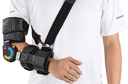 Hinged ROM Adjustable Elbow Brace with Sling