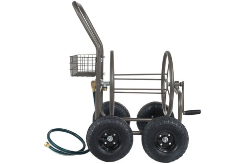 Palm Springs Portable Garden Hose Reel Cart on Wheels