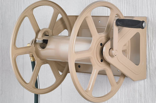 Liberty Garden 709 Steel Wall/Floor Mounted Hose Reel Cart