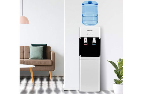 OKVAC5 GallonWater Cooler Dispenser Top Loadingwith Storage Cabinet