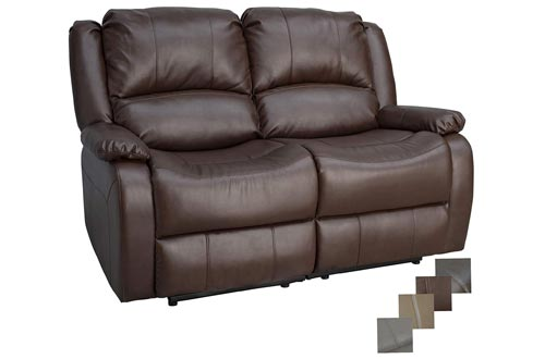 """RecPro Charles Collection 58"""" Double Recliner RV Sofa"""