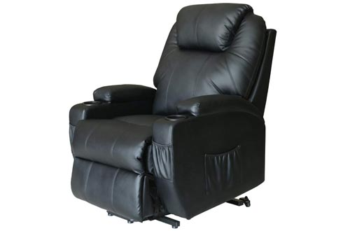 Deluxe Wall Hugger Power Lift Heated Vibrating Massage Recliner
