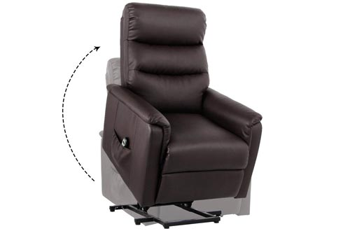Unionline PU Leather Power Lift Chairs Recliner for Elderly Wall Hugger