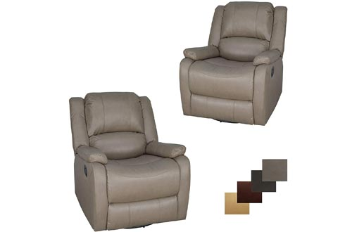 """Set of 2 RecPro Charles Collections 30"""" Zero Wall RV Recliner"""