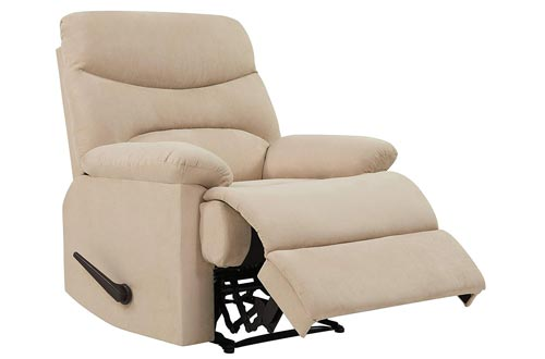 ProLounger Wall Hugger Recliner Chair in Khaki Microfiber