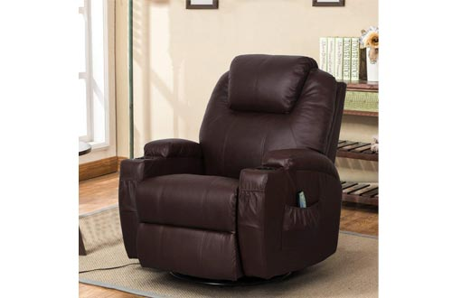 Esright Massage Recliner Chair Heated PU Leather Ergonomic Lounge